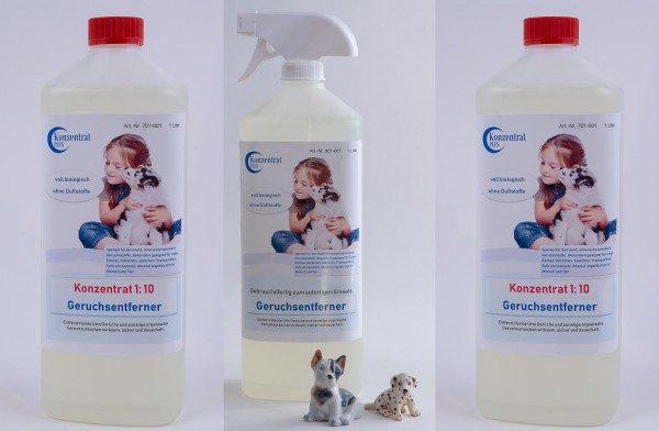 Geruchsentferner Hund Konzentrat (ohne Duftstoffe) Paket