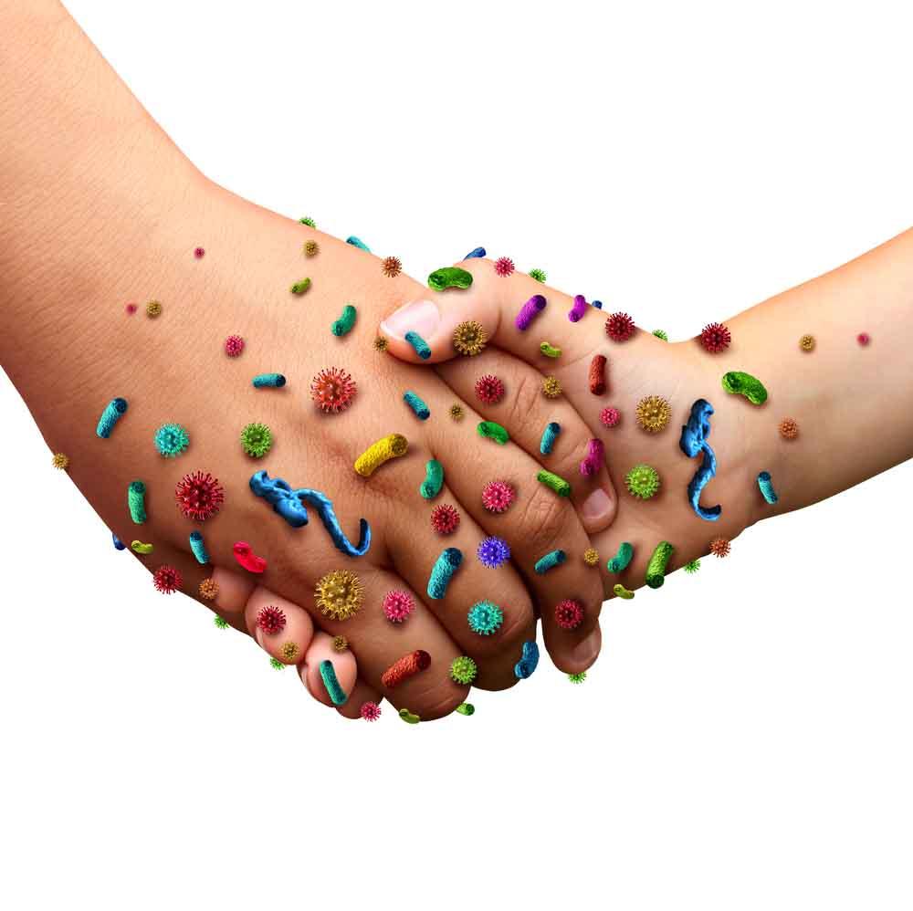 Desinfizieren von Händen und Desinfizierung der Haut ist sinnvoll