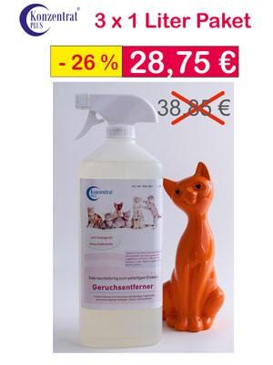 Geruchsentferner Katze gebrauchsfertig Paket Angebot
