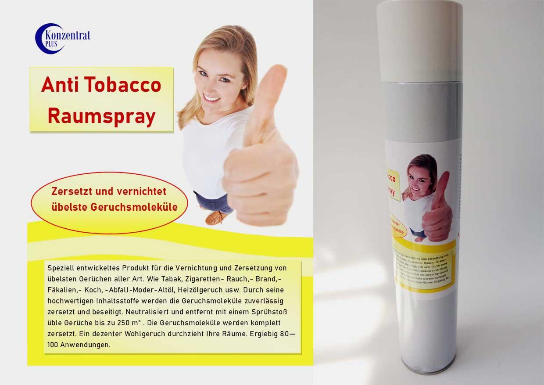 Nikotin- Rauchgeruch Geruchsvernichter Spray