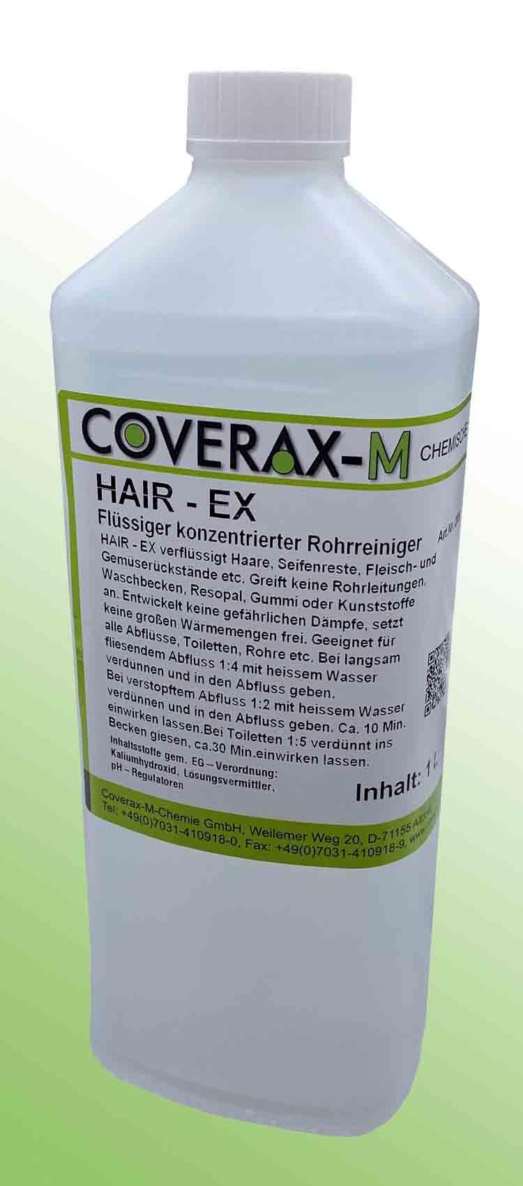 Abfluss reinigen mit Hair Ex Rohrreiniger und Abflussreiniger